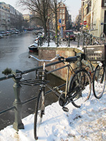 Lijnbaansgracht winter bicycles