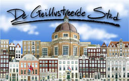 Illustrated city Amsterdam