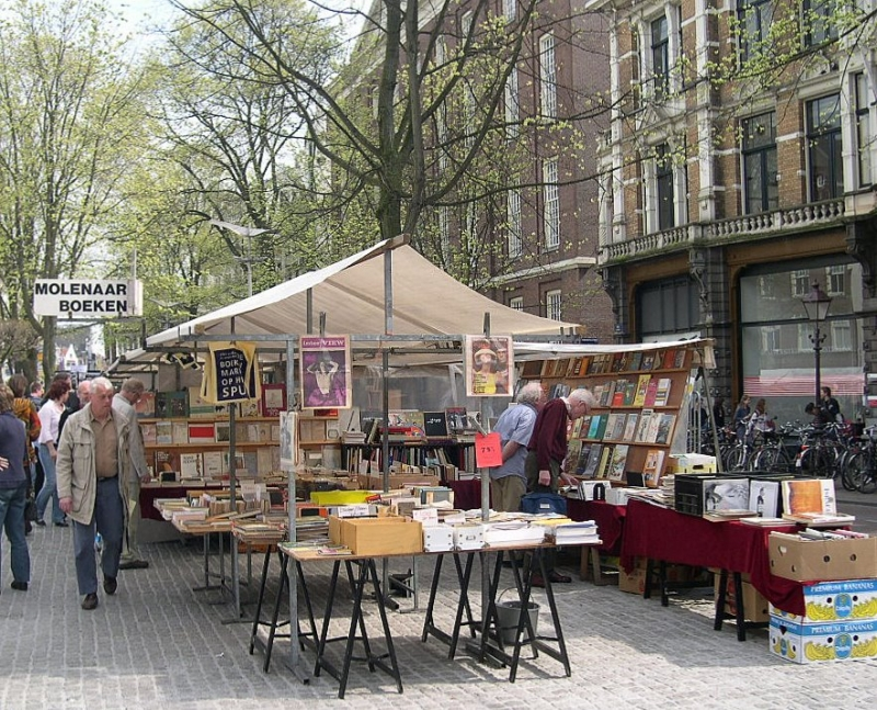 Boekenmarkt, one of the best places to go if you're looking for rare books!