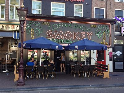 smokey coffee shop outside