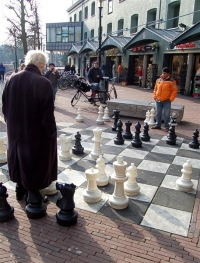 Outside the Chess Museum