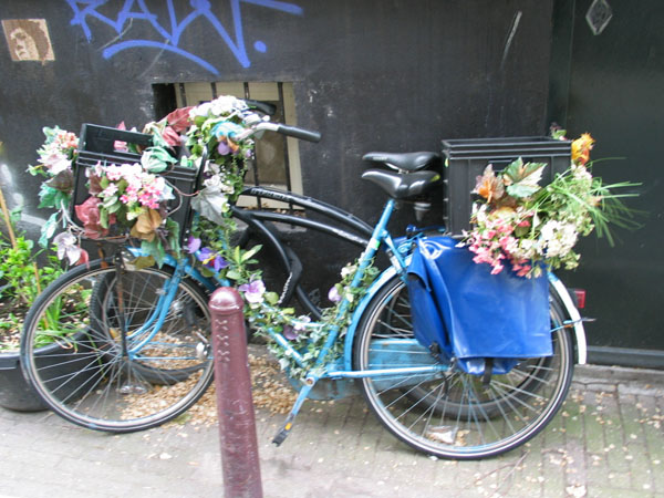 Amsterdam Bike with Flowers
