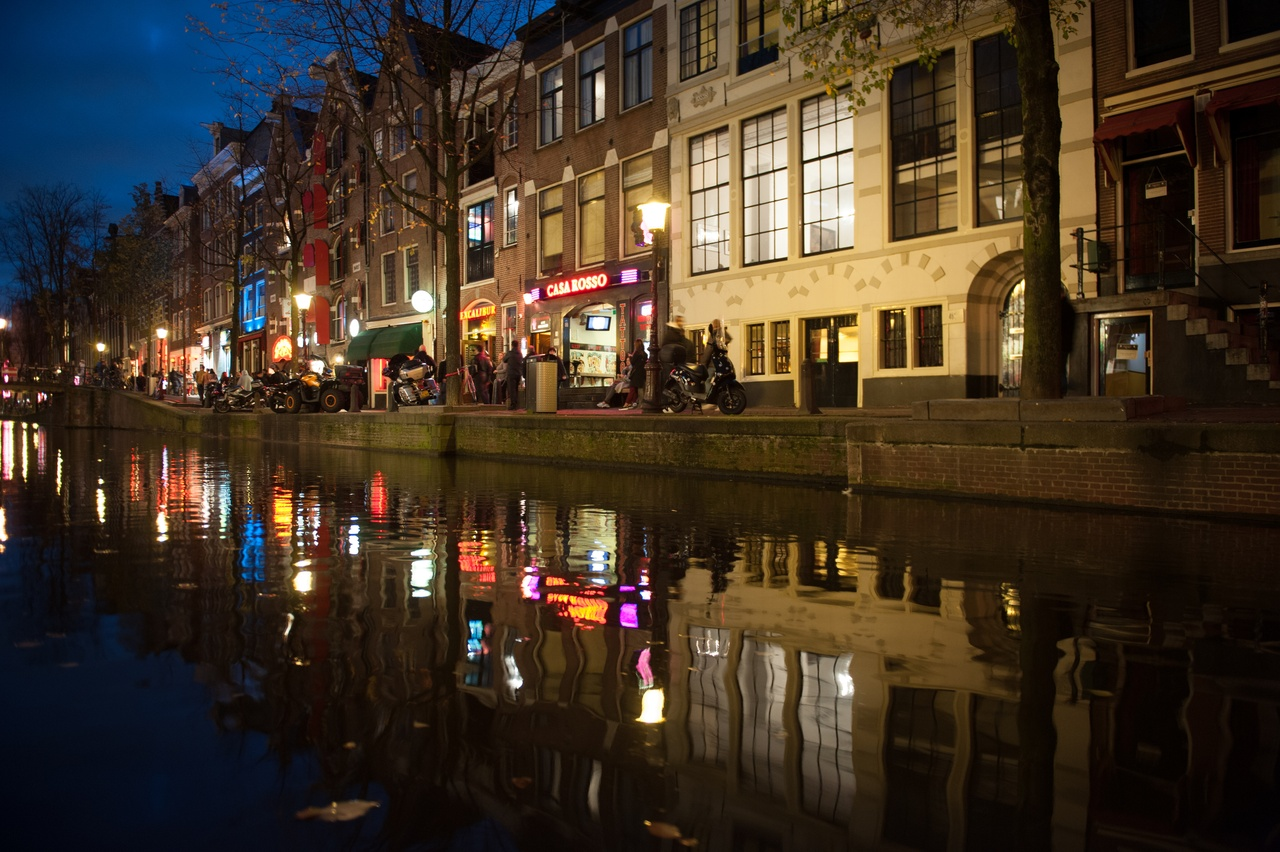 Street Watching in Amsterdam Red Light District
