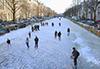 Keizersgracht skating on ice