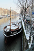 Prinsengracht with snow