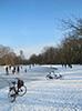Vondelpark Amsterdam Snow