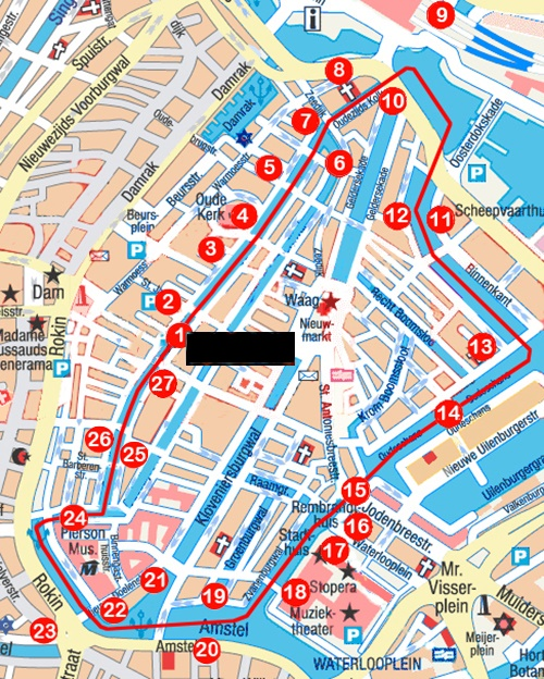 Red Light District Amsterdam Map The Red Light District   the oldest canals in Amsterdam