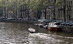 Boat on Herengracht Amsterdam