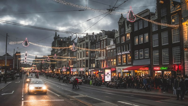 Amsterdam city streets