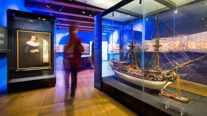 Golden age era exhibits of the Dutch Maritime Museum in Amsterdam