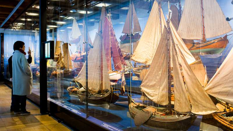 Yacht models at the Dutch Maritime Museum in Amsterdam